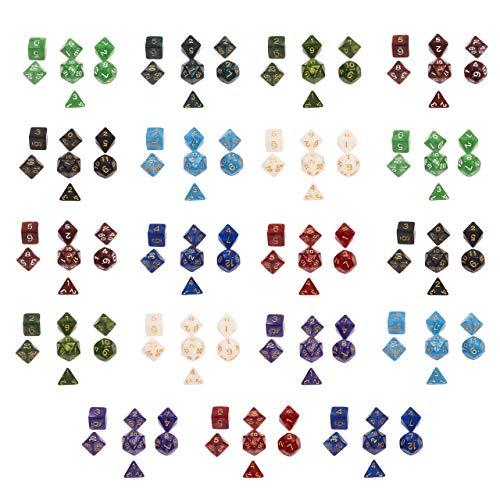 Paquete de 20 Dados de Mazmorras y Dragones - Ideal para varios juegos diferentes - Incluye bolsa de almacenamiento.