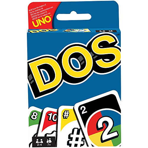 Mattel Games FRM36 DOS Kartenspiel, geeignet für 2 - 4 Spieler, Spieldauer ca. 30 Minuten, ab 5 Jahren (Handbuch wird in englischer Sprache sein)