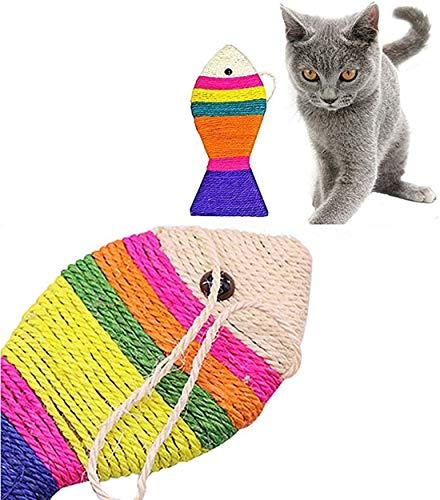 XKONG Fischförmiger Sisal Cat Scratcher ,Sisal Rope Cat Scratch Board , EIN...