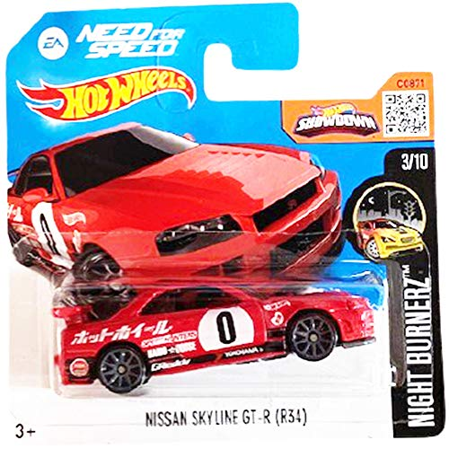 Hot Wheels Nissan Skyline GT-R (R34) Need For Speed Night Burnerz 3/10 2016 (83/250) Short Card