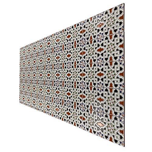 """Casa Moro   Azulejos de pared orientales cerámica marroquí 28 x 14 cm""""Ceuta""""   1m² diseño de mosaico relieve  Decoración por baño y cocina   FL3070"""