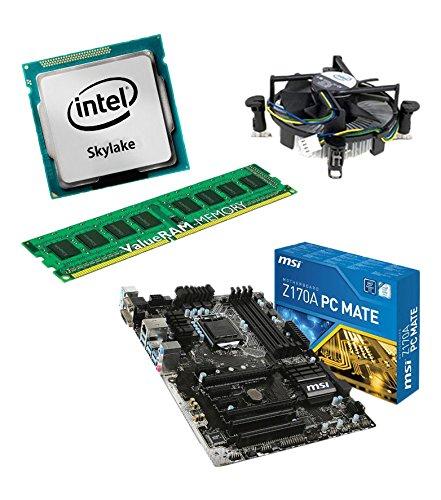 Aufrüstkit Z170A_PC-Mate+i5-6700K+8GB Desktop-PC (Intel Core i7-6700K Skylake, 8GB RAM, on Chip: Intel HD530, kein Betriebssystem)