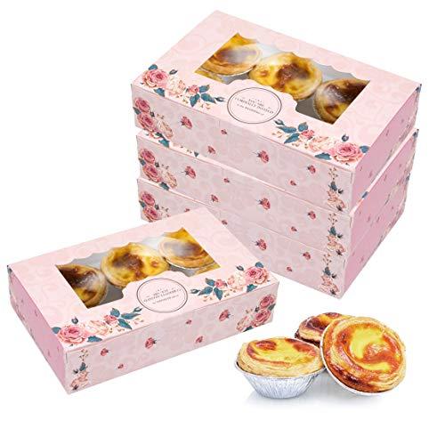 Scatole per torte da 15 confezioni con vetrina, scatole per torte rettangolari per cupcakes, muffin, dolci, robuste scatole da forno per feste di compleanno a casa e picnic