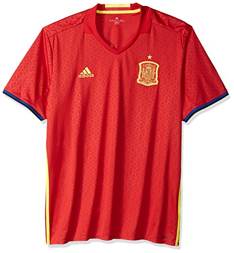 adidas International Soccer Spain Men's Jersey, Large, Red/Yellow