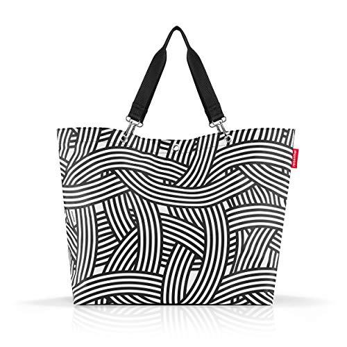 reisenthel shopper XL, Einkaufstasche, Tragetasche, Strandtasche, Tasche, Polyestergewebe, Zebra, 35 L, ZU1032