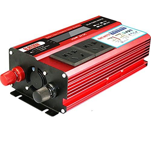SGSG Inversor de Corriente de 1500 W, 12 V CC a 110 V / 240 V CA, convertidor de Dos Salidas de CA y 4 USB de 2.1 A con Salidas de CA universales y Puerto USB Incluye Cable de Enchufe para encend