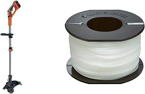 BLACK+DECKER GLC3630L20-QW Coupe-Bordures sans Fil - 2 Vitesses - 1 Batterie - Tube telescopique et 2nd poignée régla...