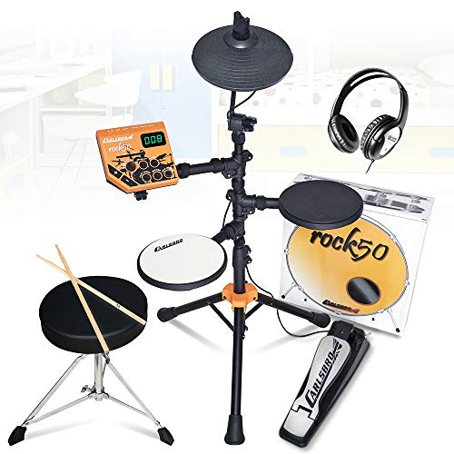 Carlsbro Rock 50 Electric Drum Kit Electronic Digital Set with Stool and...
