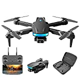JJDSN Drone Plegable para Principiantes, WiFi FPV Drone con cámara 4K HD, Modo de retención de altitud, RTF One Key Take Off/Landing, App Control, 3D Flips 1 Batteries, LED Remote Control Drone