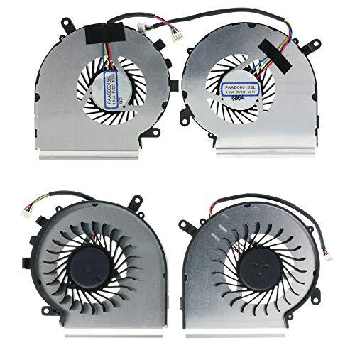 Todiys CPU + GPU Fan 4-Pin for MSI GL62M 7RC 7RD 7RDX 7RE 7REX 7QD 7QE Series GL62M 7RC-040TW 7RD-1407 7RDX-218CA 7RDX-2073UK 7RE-406US 7REX-1067US 7RDX-1645 MS-16JD MS-16J9 PAAD06015SL N366 N371 N403