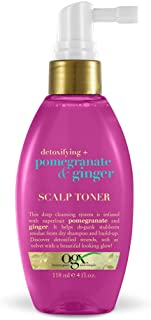 OGX Detoxifying + Pomegranate & Ginger Scalp Toner, 4 Ounce