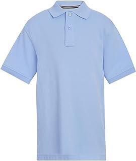 Kids' Short Sleeve Interlock Co-ed Polo Shirt, Boys &...