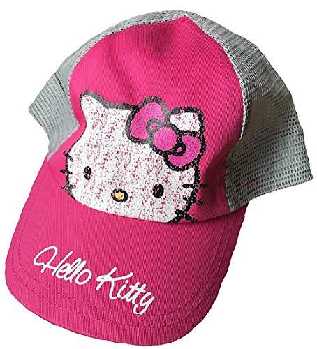 Hello Kitty Kinder Baseball Kappe 4-8 Jahre Pink/Grau