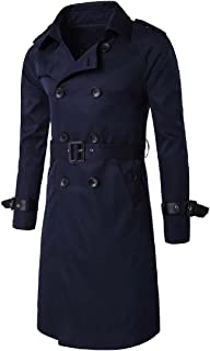 Howme-Men Business Double Breasted Lapel Mid-Long Style Overcoat