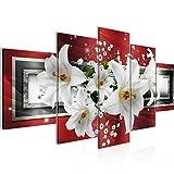 Bilder Blumen Lilien Wandbild Vlies - Leinwand Bild XXL