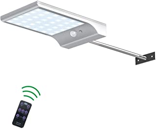 36 LED Solar Light Outdoor Waterproof Solar Wall Light Safety Light with Motion Sensor with Remote Control for Porch Garag...