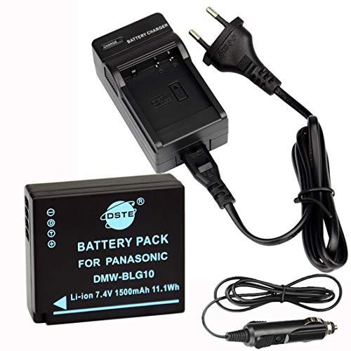 DSTE® Ersatz Batterie und DC120E Reise Ladegerät Compatible für Panasonic DMW-BLG10 LUMIX DMC-GF3 DMC-GF5 DMC-GF6 DMC-GX7 DMC-LX100 Kamera