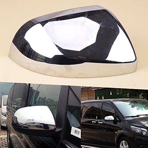 JiasHome DINGSONGYANG ABS Derecha Chrome RETERVIO Espejo Cubierta DE Cubierta Ajuste para Mercedes-Benz Vito W447 2014-2018