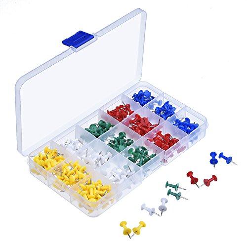 eBoot - kit de 200 chinchetas surtidas para mapas y tablones
