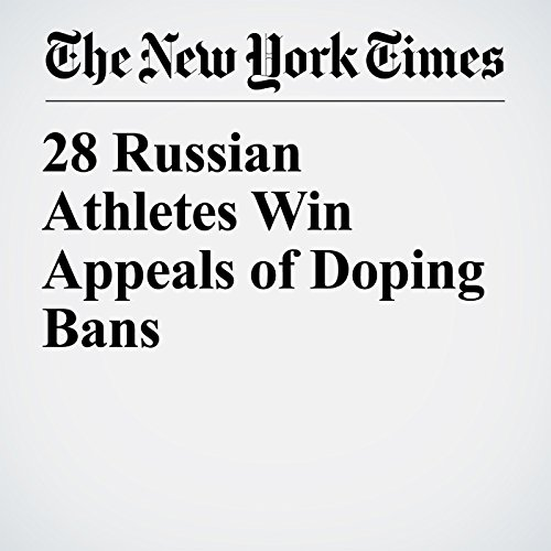 28 Russian Athletes Win Appeals of Doping Bans copertina