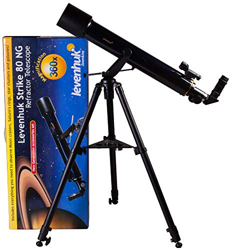 Levenhuk Strike 80 NG Telescope achromatic refractor 80 mm alt-azimuth mount with advanced accessories kit