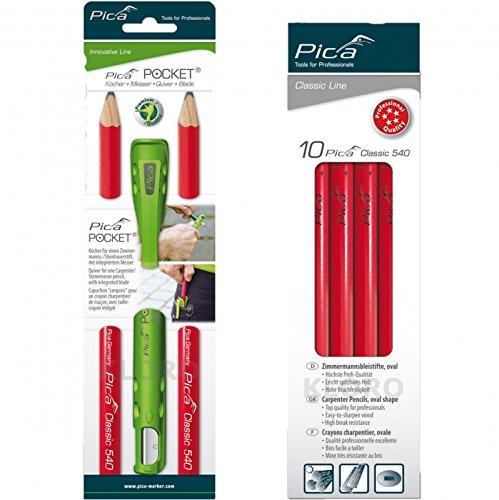 Pica Pocket mit 2 Zimmermannstiften 24cm