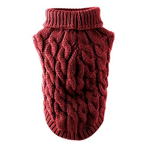 Petyoung Hundepullover Weste Warmer Mantel Haustier weiche Strickwolle Winter Pullover gestrickt Häkeln Mantel Kleidung für kleine mittlere große Hunde