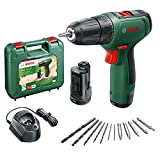 Bosch Home and Garden Perceuse-visseuse à percussion sans fil - EasyImpact 1200 (2 batteries, système 12 V, 19 accessoires, en coffret de transport) Green