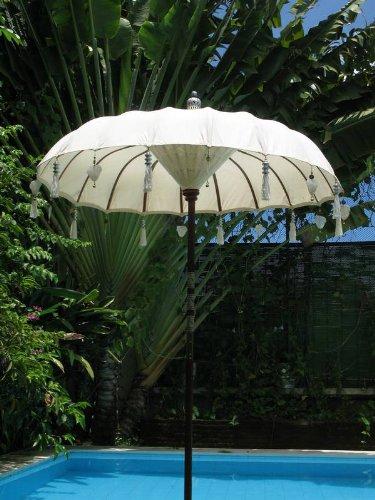 The Bali Shop Balinesische Regenschirm weiß Baumwolle Top