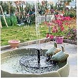 DierCosy Solar, Bomba de Fuente 1W Círculo jardín de energía Solar de la Bomba de Agua de la Bomba de la Fuente por Birdbaths estanques Mejor
