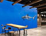Yosot Haie Unterwasserwelt Tiere Fototapete Restaurant Living Room Bar Fernseher Sofa Wand Schlafzimmer Küche 3D Wandbild-200Cmx140Cm