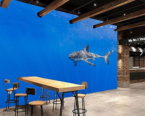 Yosot Haie Unterwasserwelt Tiere Fototapete Restaurant Living Room Bar Fernseher Sofa Wand Schlafzimmer Küche 3D Wandbild-350Cmx245Cm