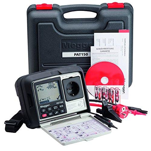 Megger 1003-434 PAT150R-CH Gerätetester, Schutzleiterwiderstand mit 200 mA, Isolationsprüfung mit 250V und 500V, Ersatz-Ableitstrom, Schutzleiterstrom