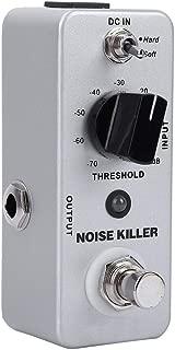 RiToEasysports Pedal de Efecto de Guitarra, MOOER Noise Killer Mini Pedal de Efecto de reducción de Ruido Procesador de Efectos de Guitarra con True Bypass Accesorio de efector de Guitarra, Blanco.