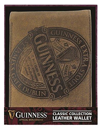 GUINNESS Marrone portafoglio in pelle con Collezione Classica ETICHETTA design