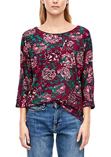 s.Oliver RED Label Damen Fledermausshirt mit Print pink floral Print 42
