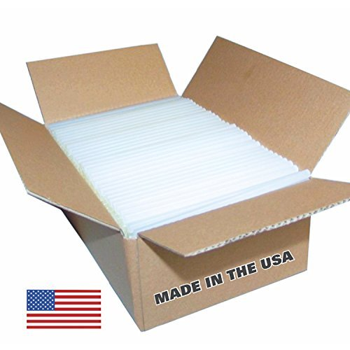 USA Glue Sticks Full Size - 8 lb Box 7/16' x 10' (Approx. 145 Sticks) - Clear, High Strength, Quality Bond - Made in th