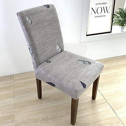 Fundas para sillas Rayas Grises Spandex Fundas sillas Comedor Lavable Extraíble Funda Muy fácil de Limpiar Duradera Modern Bouquet de la Boda Hotel Decor Restaurante 8/Piezas