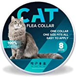 Flea and Tick Collar for Cats - 8 Month Protection - One Size Fits All