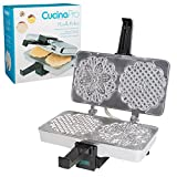 CucinaPro Polished Electric Pizzelle Baker Press (Silver)