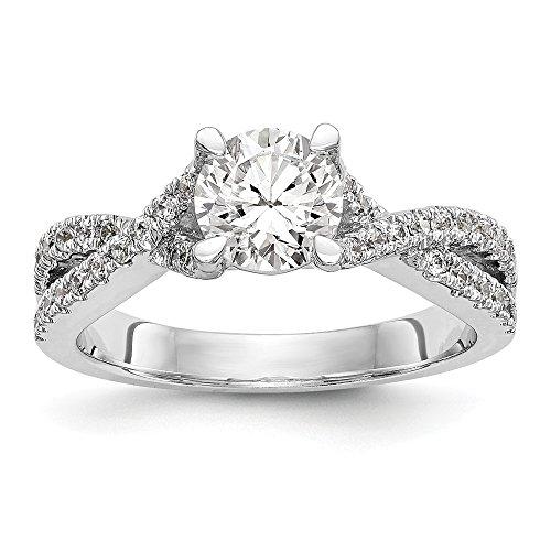 VS/E-0.416 cttw - Anello di fidanzamento in oro bianco 14ct con diamanti coltivati in laboratorio
