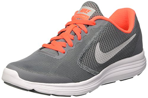 Nike Mädchen Revolution 3 Gs Gymnastikschuhe, Grau (Cool Grey/Matte Silver/Dark Grey), 39 EU