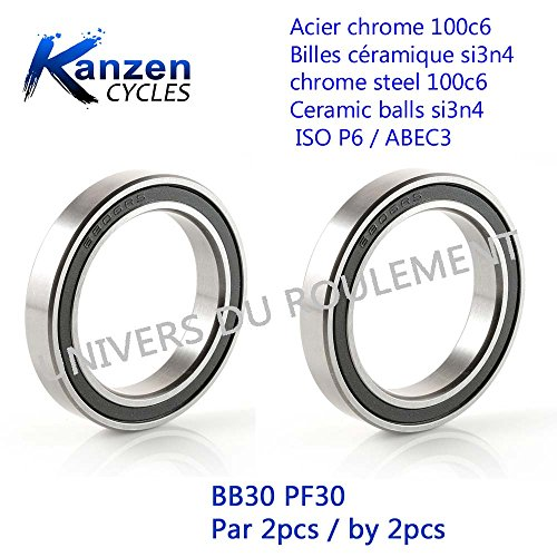 Kanzen ROULEMENT A Billes 12X24X6 INOX 6901 2RS 1pc Cyclisme Velo Cycling Biking VTT