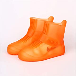 ACHICOO Waterproof Shoes Covers Non Slip Short Rain Boots for Kids Men Women