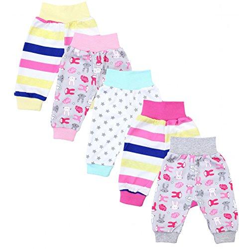 TupTam Unisex Baby Pumphose 5er Pack, Farbe: Mädchen 3, Größe: 62