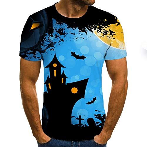 T Shirt Men Clothes Mens Summer Skull Print Men Short Sleeve T-Shirt 3D Print T Shirt Casual Breathable Funny T Shirts 4XL Txu-1216