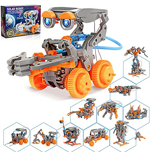Hot Bee 11 in 1 Solar Robot Toys, Stem Projects for Kids Ages 8-12, Science Kits for Kids Age 8-12, Gifts for 8 9 10 11 12 13 Year Old Boys Girls