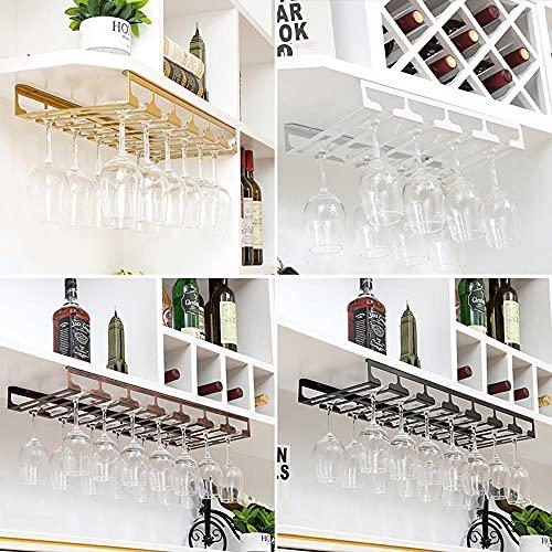Soportes para Copas de Vino,Vino Copa,Sostenedor del Vidrio de Vino,Colgante Sostenedor del Vidrio de Vino,Creativo Estante de Copas de Vino Debajo del Gabinete,Bar Escritorio Bar Club Cocina