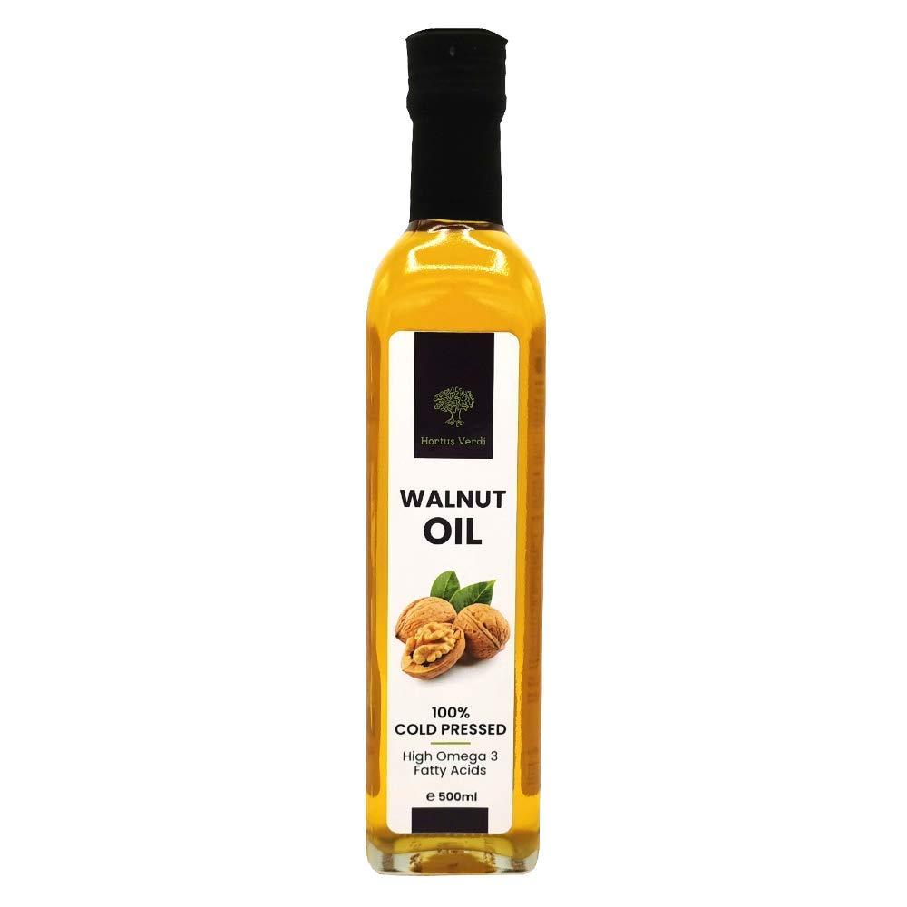 Walnut oil 16.9 FL Oz Hortus 10 Verdi Ranking TOP12 5 ☆ very popular ✅ Cold Pressed