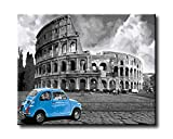 Shukqueen - Kit de pintura al óleo por números, pintura acrílica, pintura del Coliseo de Roma, para adultos, de 40,6 x 50,8 cm